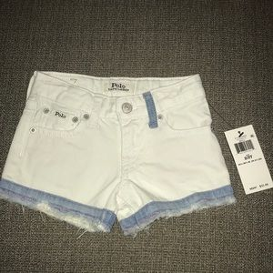 Polo Ralph Lauren White Shorts